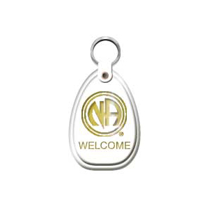 White Welcome Keytag